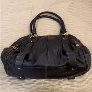 Chocolate brown luxurious leather bag